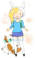 Fionna and Cake by tobitan