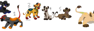 Mix Lion Adoptables ALL MUST GO! 1 LEFT!! by TinyWolfy