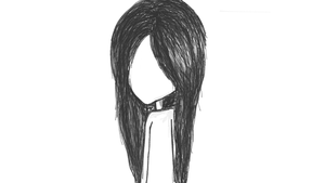 Hair Sketch Ghost girl by DreamAReality