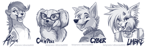 'Twitter' headshot sketches Part 5 by SilverDeni