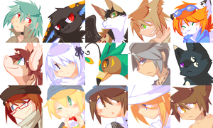 Disgaea 2 Style Icons by ClefdeSoll