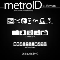 MetroID Icons (White No BG) by JRawson by JRawson