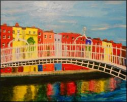 Ha'Penny Bridge in Dublin by NinaElizabethJones