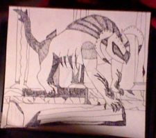 The Gargoyle of Hades and Hephaestus- Sketch part by Dreagonsonofhades