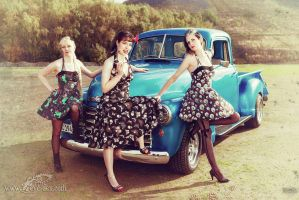 Cool girls with a cool car 1 by schamass