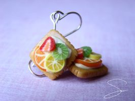 Fruit Tart Earrings by xcalixax