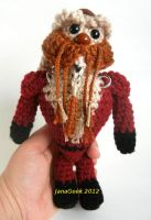 Farscape Ka D'Argo Warrior Crochet Doll by janageek