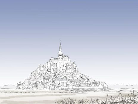 Mont St-Michel by Densar