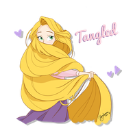 RAPUNZEL - SketchBook APP by HigSousa