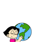 Uran hugging Earth as part of Earth Day by MarcosPower1996