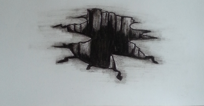 Charcoal Crater by Bannakoot