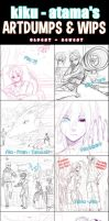 Sketch/ Art Dumps by kiku-atama