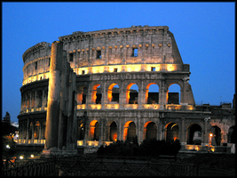 Colosseum at Night by WindCrest