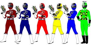ToQger with Hurricanger Colors for FangedBrave by rangeranime