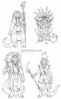 felines by bonegoddess