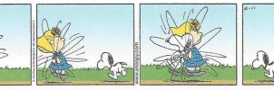 Peanuts jump rope related comic strip by dth1971
