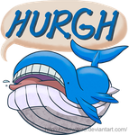 HURGH the Wailord by hollowzero
