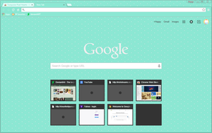 Turquoise Pixel Hearts - Google Chrome Theme by Sleepy-Stardust
