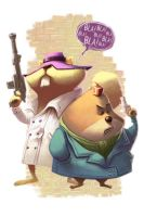 Secret Squirrel and Morocco Mole by thurZ