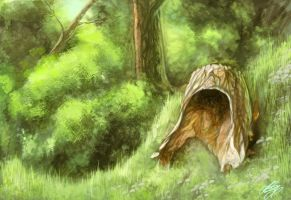 forest speedpaint by Foxbat-Sullavin