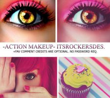 ACTION MAKEUP. by itsrockersdesigns