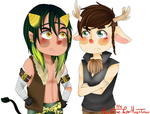 Hal and Jerrico (commission) by ThePastelHobbit