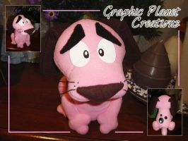 Leone Cane Fifone (Courage Dog) Plush by GraphicPlanetDesigns