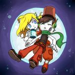 Cave Story - Quote and Curly by dalsegno2525