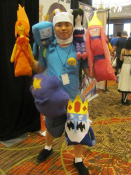 A-kon '12 - Finn and Plushies by TexConChaser
