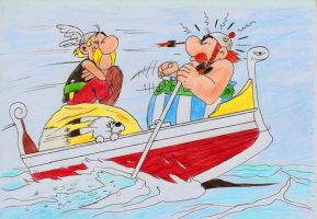 Asterix and Obelix by CharizardTrainster