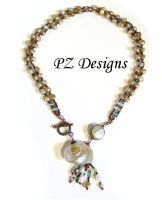 Nautilus and Pearls Necklace by PurlyZig