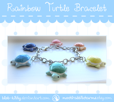 [New!] Rainbow Turtle Bracelet by ShinyCation