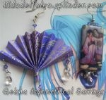Geisha origami earrings by raffaella131