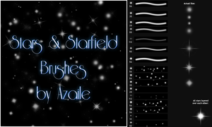 Stars + Starfield Brushes by Azaile