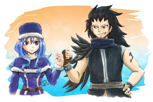 Fairy Tail BrOTP - Juvia and Gajeel by AmySunHee