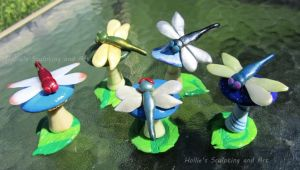 Dragonfly figures by HollieBollie