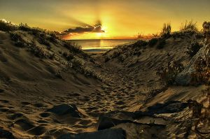 Sunset Beach HDR by Riddlez46