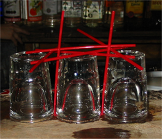 Shot glasses and straws by maiem