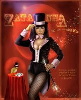Zatanna and Moe by crayonmaniac