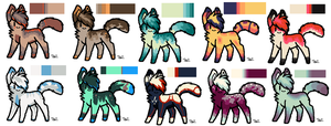 SOLD OUT Adoptables Batch 5 by Anni-Adoptables
