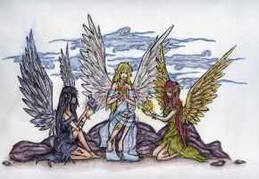 The Three Sisters Of Existance by lovekakariki