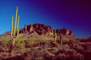Superstitions, near sunset by par-a-bola