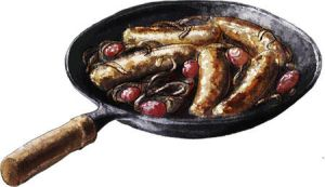 Roast Sausages with Chianti by torstan