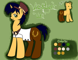 Reference sheet of Vic Flyer by Muketti
