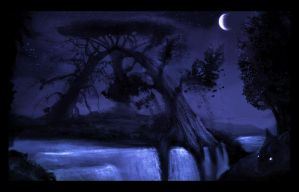 Night Yggdrasil by whisperpntr