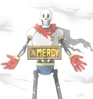 I, PAPYRUS, WELCOME YOU WITH OPEN ARMS! by Skeleion