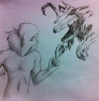 SCP-2703 vs SCP-682 by HollowandHeartless