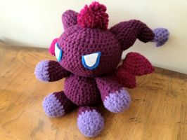 Purple Dark Flying Chao Amigurumi by STiRCreations