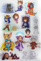 Characters with the lottery - Additions 1 by KoTana-Poltergeist
