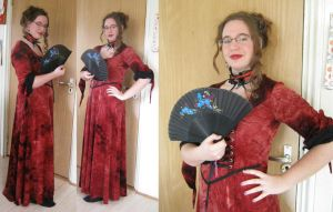 18th century make-up and costume tryout by LadyRafira